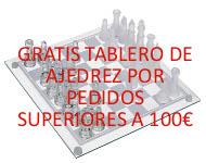 Tablero de Ajedrez Gratis por 100 € de compra.